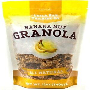 Leila Bay Trading Companyバナナナッツグラノーラ、12オンスポーチ Leila Bay Trading Company Banana Nut Granola, 12 Ounce Pouch