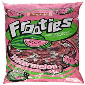 スイカTootsieロールFrooties歯ごたえキャンディー-360ピースバッグ(グルテンフリー〜ピーナッツフリー) Watermelon Tootsie Roll Frooties Chewy Candy - 360-piece Bag (Gluten Free ~ Peanut Free)
