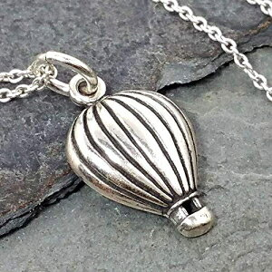 Hot Air Balloon Charm Necklace - 925 Sterling Sil