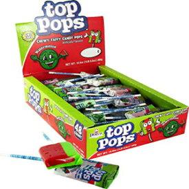 Top Pops Chewy Taffy Pops, Watermelon, 16.9 Ounc