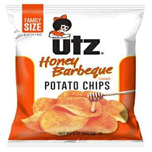 Utzハニーバーベキューポテトチップス9オンス。ファミリーサイズバッグ(3袋) Utz Honey Barbeque Potato Chips 9 oz. Family Size Bag (3 Bags)