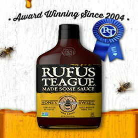 Rufus Teague HONEY SWEET BBQ SAUCE – 16oz Bottle – World Famous Kansas City BBQ – Thick & Rich made with Premium Ingredients. Award Winning – Gluten-Free, Kosher & Non-GMO