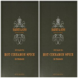 Harney & Sons Hot Cinnamon Spice - Spicy Black Tea with Orange Peel, 3 Types of Cinnamon, and Sweet Cloves - 50 Foil-Wrapped Tea Bags, Pack of 2