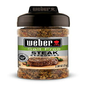 ウェーバー無塩ステーキ調味料、2.5オンスジャー(3パック) Weber Seasonings Weber Salt-free Steak Seasoning, 2.5 Ounce Jar (Pack of 3)