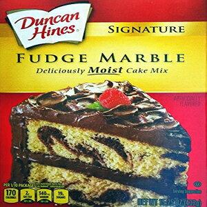 Ducan Hines Signatureファッジマーブルケーキミックス(2パック)15.25オンスボックス Ducan Hines Signature Fudge Marble Cake Mix (Pack of 2) 15.25 oz Boxes