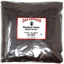 16オンスプレミアムホールブラウンマスタードシード(1ポンドバルクシード) San Antonio 16 Ounce Premium Whole Brown Mustard Seed (1 Pound Bulk Seeds)