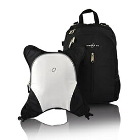 Rio Diaper Backpack with Baby Bottle Cooler and Changing Mat, Shoulder Baby Bag, Food Cooler, Clip to Stroller (Black/White) - Obersee