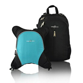 Rio Diaper Backpack with Baby Bottle Cooler and Changing Mat, Shoulder Baby Bag, Food Cooler, Clip to Stroller (Black/Turquoise) - Obersee