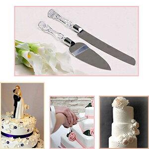 Adoroxウェディングケーキナイフとサーバーセットアクリルステンレススチールフェイククリスタルハンドル Adorox Wedding Cake Knife and Server Set Acrylic Stainless Steel Faux Crystal Handle
