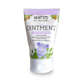 Matys Maty's All Natural Baby Ointment, 3.5 oz, Petroleum Free, Safe for Cloth Diapers, Natural Alternative to Petroleum-Based Diaper Rash Creams, Safe for Sensitive Skin, Chemical & Fragrance Free