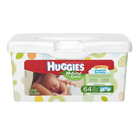 Huggies Natural Care Fragrance Free Baby Wipes Tub, 64 ct