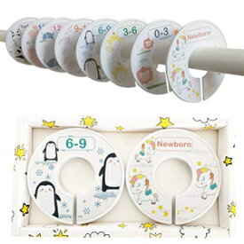 MOBU Baby Closet Dividers - Set of 8 Nursery Closet Dividers Baby Closet Size Dividers Baby Wardrobe Dividers Cute Baby Clothes Organizer/Hangers Dividers
