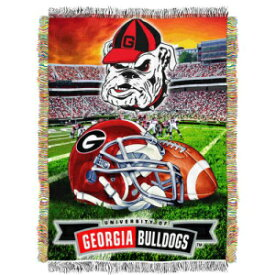 """The Northwest Company Georgia Bulldogs """"Home Field Advantage"""" Woven Tapestry Throw Blanket, 48"""" x 60"""""""