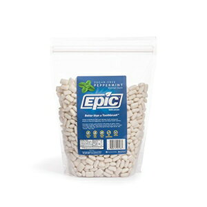 Epic Dental 100%キシリトール甘味ガム、ペパーミント、1000カウントバッグ Epic Dental 100% Xylitol Sweetened Gum, Peppermint, 1000 Count Bag