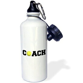 3dRose wb_192410_1 coach, black letters with volleyball on white background Sports Water Bottle, 21oz, Multicolored