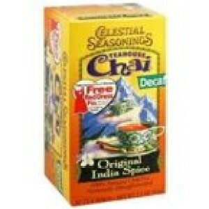 Celestial Seasonings 664599 Celestial Seasoningsカフェイン抜きの紅茶インドスパイスチャイ-20ティーバッグ Celestial Seasonings 664599 Celestial Seasonings Decaffeinated Black Tea India Spice Chai - 20 Tea Bags