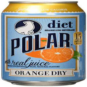 ポーラービバレッジドライジュース、オレンジ、12フルイドオンス(12パック) Polar Beverages Dry Juice, Orange, 12 Fluid Ounce (Pack of 12)