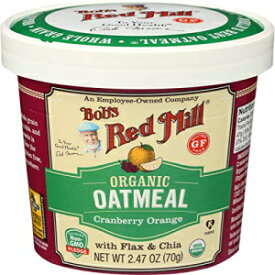 Bob's Red Mill BOBS RED MILL Organic Cranberry Orange Oatmeal Cup, 2.47 OZ