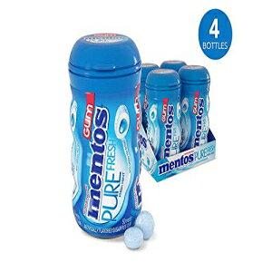 Mentosピュアフレッシュシュガーフリーチューインガム、キシリトール、フレッシュミント、50個入りボトル(4パック) Mentos Pure Fresh Sugar-Free Chewing Gum with Xylitol, Fresh Mint, 50 Piece Bottle (Pack of 4)