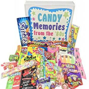 ウッドストックキャンディー〜80年代レトロキャンディーギフトボックス1980年代の男性または女性のキャンディーの品揃え-楽しいケアパッケージ誕生日ギャグギフト Woodstock Candy ~ 80s Retro Cand