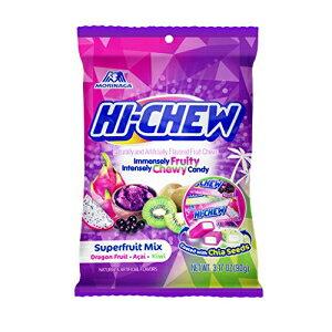 ハイチュウセンセーショナルに歯ごたえのある日本のフルーツキャンディー、スーパーフルーツミックス、3.17オンス、6カウント Hi-Chew Sensationally Chewy Japanese Fruit Candy, Superfruit Mix, 3.17 Ounce, 6 Co