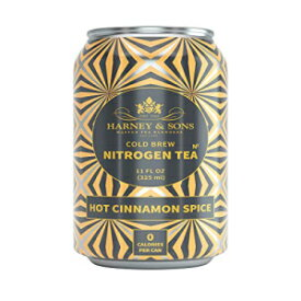 Harney & Sons Hot Cinnamon Spice Nitrogen Infused Tea, 11 fl oz cans, Case of 6, Decadent, Stimulating, Smooth Energy