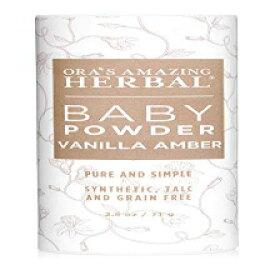 Ora's Amazing Herbal Natural Baby Powder, Talc Free, Baby Skin Care, Gentle Vanilla Amber, Corn Free Baby Powder, Grain Free, Gluten Free, Synthetic Fragrance Free, Ora's Amazing Herbal, Made in USA Baby Produc