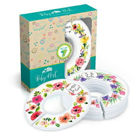 Baby Nest Designs Closet Dividers for Baby Clothes [Floral Bouquet] - 7X Baby Clothing Size Age Dividers from Newborn Infant to 24 Months - Floral Baby Clothes Dividers and Nursery Closet Organizer