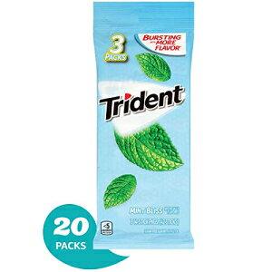 トライデントミントブリスシュガーフリーガム-キシリトール入り-バルクパック-60パック(合計840個) Trident Mint Bliss Sugar Free Gum - with Xylitol - Bulk Pack - 60 Packs (840 Pieces Total)