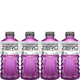 パワーエイドゼロパープルグレープ、ゼロカロリースポーツドリンク、32オンスボトル(4パック、合計132オンス) Powerade Zero Purple Grape, Zero Calorie Sports Drink, 32oz Bottle (Pack of 4, Total of 132 Oz)