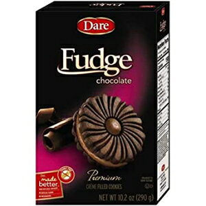 Dare Foods Chocolate Fudge Creme Filled Cookie, 10.2 Ounce - 12 per case.
