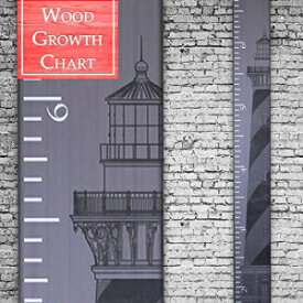 Back40Life | Premium Series - (The Lighthouse) Wooden Growth Chart Height Ruler (Storm Gray)
