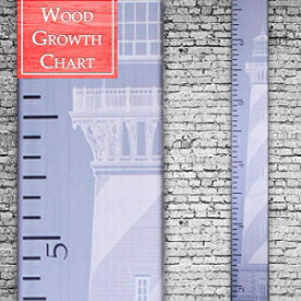 Back40Life | Premium Series - (The Lighthouse) Wooden Growth Chart Height Ruler (Slate Blue)
