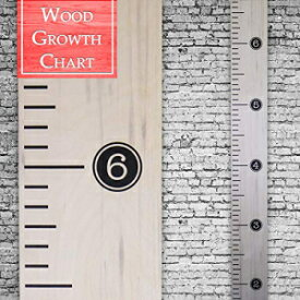 Back40Life | Premium Series - (Distressed Typewriter) Wooden Growth Chart Height Ruler (Weathered Natural)
