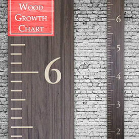 Back40Life | Premium Series - (The Benchmark) Wooden Growth Chart Height Ruler (Ebony Wash)