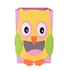 Clever Creations Cute Smiling Owl Collapsible Toy Storage Organizer Toy Box Folding Storage Cube for Kids Bedroom | Perfect Size Storage Cube for Books, Kids Toys, Baby Toys, Baby Clothes
