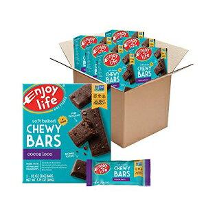 ライフチューイーバー、ソイフリー、ナッツフリー、グルテンフリー、乳製品フリー、ノンGMO、ココアロコ、6ボックス(30バー) Enjoy Life Foods Chewy Bars, Cocoa Loco Nut Free Bars, Soy Free, Dairy Free, Non