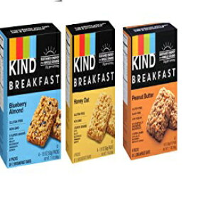 KIND朝食ミックス、各4カウント(Variety Pack of 3) KIND Breakfast Mix, 4 count each (Variety Pack of 3)