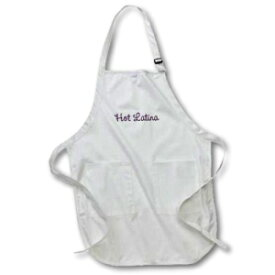 3dRose apr_15932_2 Hot Latina-Medium Length Apron with Pouch Pockets, 22 by 24-Inch