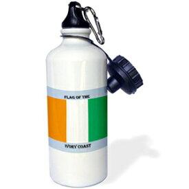 3dRose Flag of Ivory Coast-Sports Water Bottle, 21oz (wb_211299_1), Multicolored