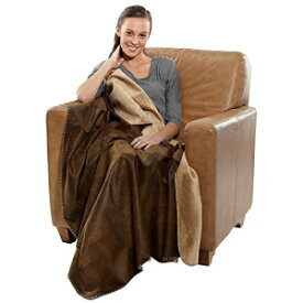 Robesale Rustic Ranch Throw 50 X 60 inch, Blanket, Brown