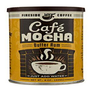ファイアサイドコーヒーカフェモカインスタントフレーバーコーヒー8オンスキャニスター-ホットバターラム Fireside Coffee Cafe Mocha Instant Flavored Coffee 8 Ounce Canister - Hot Butter Rum