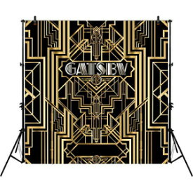 Allenjoy 8x8ft The Great Gatsby Themed Backdrop for Adult Celebration Retro Roaring 20's 20s Party Art Table Decor Happy 1st Birthday Wedding Decoration Pictures Background Supplies Photo Booth Prop