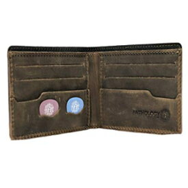 Minimalist Bi-fold Leather Wallet - with Guitar Pick Holder Full Grain Leather by Anthology Gear (Whiskey Brown)