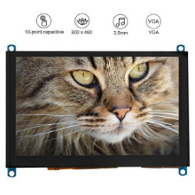 Yoidesu 5 Inch Touch Screen for Raspberry Pi,800x480 Portable Capacitive HDMI Monitor LCD Touchscreen Display Monitor for Windows 10/8.1/8/7(Free Driver),TFT LCD Display Support HD 1080P