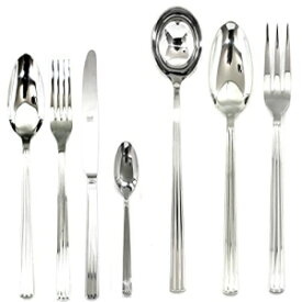 Mepra Sole 101928051 51 Pcs Flatware Set with Hollow Handles – Silver Tableware, Dishwasher Safe Cutlery