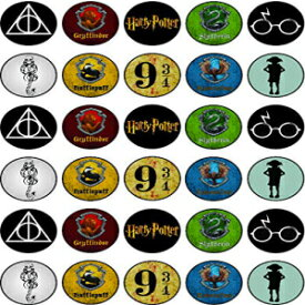 Happy Choices 30 x Edible Cupcake Toppers – Harry Potter Themed 2 Collection of Edible Cake Decorations | Uncut Edible on Wafer Sheet