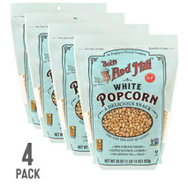 Bob's Red Mill Resealable Whole White Popcorn, 30 Ounce (Pack of 4)