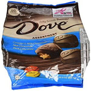 鳩詰め合わせ、キャラメル、ミルクチョコレート、ダークチョコレート35オンス Dove Assortment, Caramel, Milk Chocolate, Dark Chocolate 35 Ounce