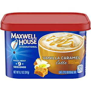 Maxwell House Internationalバニラキャラメルラテカフェスタイルインスタントコーヒー、8.7オンスキャニスター Visit the MAXWELL HOUSE Store 8.7 Ounce (Pack of 1), Vanilla Caramel, Maxwell House International Cafe Vanilla Car